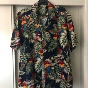 VTG-1988 Aloha Republic Toucan Button Down Mens XL